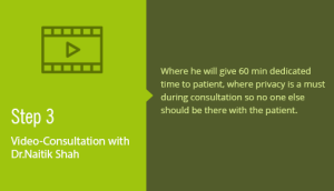 Video consultation with Dr. Naitik Shah
